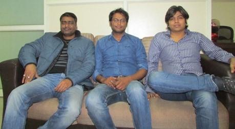Founders Prakash Sahu, Vipin Sahu and Vinay Yadav
