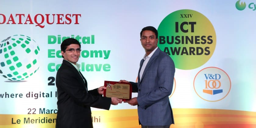 Mr. G.S. Naveen Kumar, I.A.S, Special Secretary, Department of IT and Electronics represented the Government of Uttar Pradesh for the Dataquest Vertical Warrior Award at the Dataquest Economy Conclave 2017