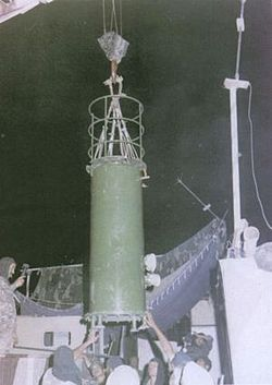 Pokhran II nuclear bomb, Shakti I, prior to its detonation