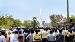 ISRO YUVIKA 2019 students wtach sounding rocket launch