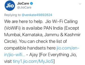 Jio Wi-Fi Calling